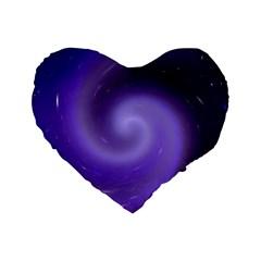 Spiral Lighting Color Nuances Standard 16  Premium Flano Heart Shape Cushions by Celenk