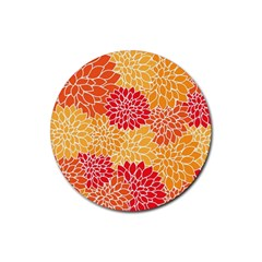 Abstract Art Background Colorful Rubber Coaster (round)  by Celenk