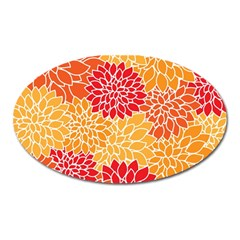 Abstract Art Background Colorful Oval Magnet by Celenk