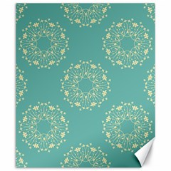 Floral Vintage Royal Frame Pattern Canvas 20  X 24   by Celenk