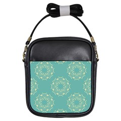 Floral Vintage Royal Frame Pattern Girls Sling Bags by Celenk