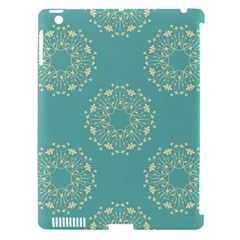 Floral Vintage Royal Frame Pattern Apple Ipad 3/4 Hardshell Case (compatible With Smart Cover) by Celenk