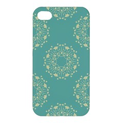 Floral Vintage Royal Frame Pattern Apple Iphone 4/4s Premium Hardshell Case by Celenk