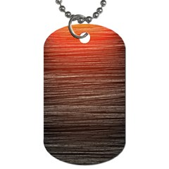 Background Red Orange Modern Dog Tag (two Sides) by Celenk