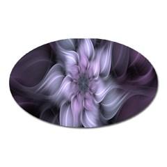 Fractal Flower Lavender Art Oval Magnet by Celenk