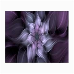 Fractal Flower Lavender Art Small Glasses Cloth by Celenk
