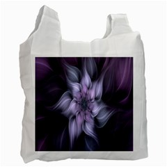Fractal Flower Lavender Art Recycle Bag (one Side) by Celenk