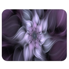 Fractal Flower Lavender Art Double Sided Flano Blanket (medium)  by Celenk