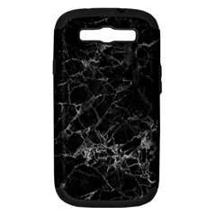 Black Texture Background Stone Samsung Galaxy S Iii Hardshell Case (pc+silicone) by Celenk