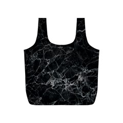 Black Texture Background Stone Full Print Recycle Bags (s)  by Celenk