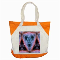 Sacred Geometry Mandelbrot Fractal Accent Tote Bag by Celenk