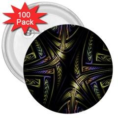 Fractal Braids Texture Pattern 3  Buttons (100 Pack)  by Celenk
