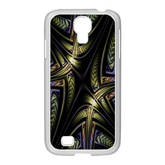 Fractal Braids Texture Pattern Samsung Galaxy S4 I9500/ I9505 Case (white) by Celenk