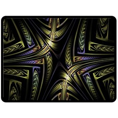 Fractal Braids Texture Pattern Double Sided Fleece Blanket (large)  by Celenk