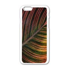 Leaf Colorful Nature Orange Season Apple Iphone 6/6s White Enamel Case by Celenk