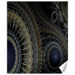 Fractal Spikes Gears Abstract Canvas 8  X 10  by Celenk