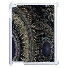 Fractal Spikes Gears Abstract Apple Ipad 2 Case (white) by Celenk