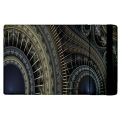 Fractal Spikes Gears Abstract Apple Ipad 2 Flip Case by Celenk