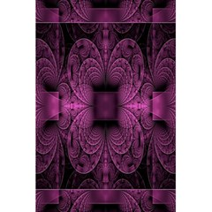 Fractal Magenta Pattern Geometry 5 5  X 8 5  Notebooks by Celenk