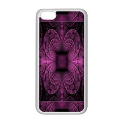 Fractal Magenta Pattern Geometry Apple Iphone 5c Seamless Case (white) by Celenk