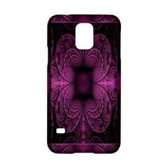 Fractal Magenta Pattern Geometry Samsung Galaxy S5 Hardshell Case  by Celenk