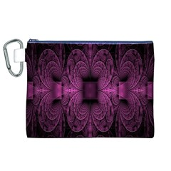Fractal Magenta Pattern Geometry Canvas Cosmetic Bag (xl) by Celenk