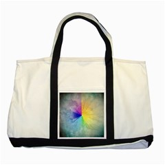 Abstract Art Modern Two Tone Tote Bag
