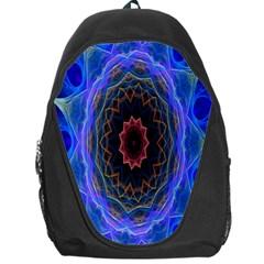 Cosmic Flower Kaleidoscope Art Backpack Bag by Celenk
