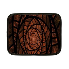 Fractal Red Brown Glass Fantasy Netbook Case (small)  by Celenk