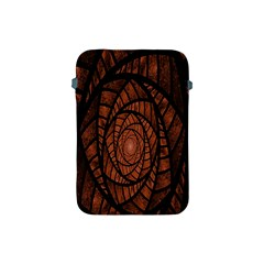 Fractal Red Brown Glass Fantasy Apple Ipad Mini Protective Soft Cases by Celenk