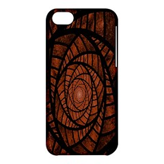 Fractal Red Brown Glass Fantasy Apple Iphone 5c Hardshell Case by Celenk
