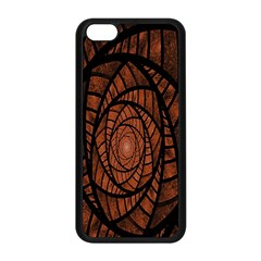 Fractal Red Brown Glass Fantasy Apple Iphone 5c Seamless Case (black) by Celenk