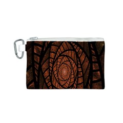 Fractal Red Brown Glass Fantasy Canvas Cosmetic Bag (s) by Celenk