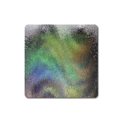Frosted Glass Background Psychedelic Square Magnet by Celenk
