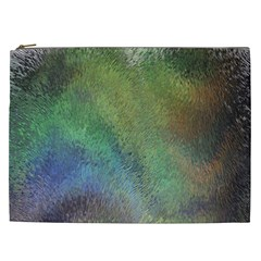 Frosted Glass Background Psychedelic Cosmetic Bag (xxl)  by Celenk