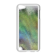 Frosted Glass Background Psychedelic Apple Ipod Touch 5 Case (white) by Celenk