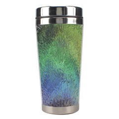 Frosted Glass Background Psychedelic Stainless Steel Travel Tumblers by Celenk