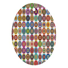 Decorative Ornamental Concentric Oval Ornament (two Sides) by Celenk