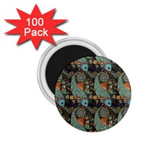 Pattern Background Fish Wallpaper 1 75  Magnets (100 Pack)  by Celenk