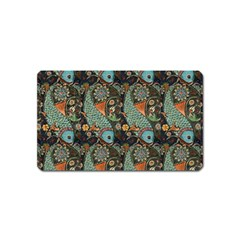 Pattern Background Fish Wallpaper Magnet (name Card) by Celenk