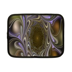 Fractal Waves Whirls Modern Netbook Case (small)  by Celenk