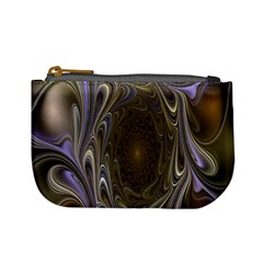 Fractal Waves Whirls Modern Mini Coin Purses by Celenk