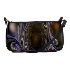 Fractal Waves Whirls Modern Shoulder Clutch Bags by Celenk