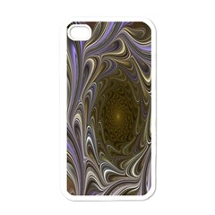 Fractal Waves Whirls Modern Apple Iphone 4 Case (white) by Celenk