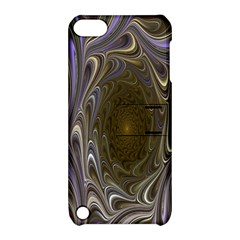 Fractal Waves Whirls Modern Apple Ipod Touch 5 Hardshell Case With Stand by Celenk