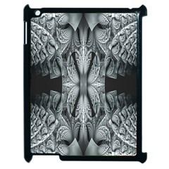 Fractal Blue Lace Texture Pattern Apple Ipad 2 Case (black) by Celenk