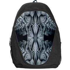 Fractal Blue Lace Texture Pattern Backpack Bag by Celenk
