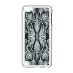 Fractal Blue Lace Texture Pattern Apple Ipod Touch 5 Case (white)