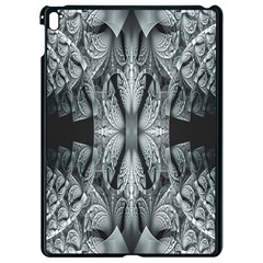 Fractal Blue Lace Texture Pattern Apple Ipad Pro 9 7   Black Seamless Case by Celenk