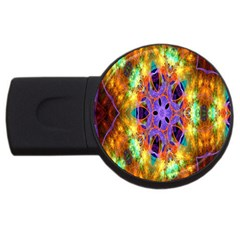 Kaleidoscope Pattern Ornament Usb Flash Drive Round (2 Gb) by Celenk